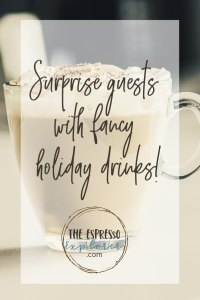 Surprise your hoiiday guests with swanky drinks like the Carrot Cake Latté!