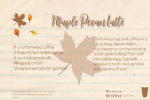 Recipe card for Maple Pecan Latté