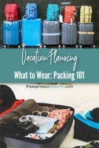Packing 101: What to wear. Pack what only essentials, no need to pack the whole wardrobe.