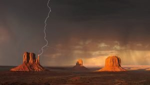 Thunder and lightening in Monument Valley, Utah