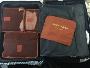 Luggage organizers are a space saver and can help with over packing