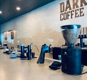 Barista area at Dark Moon Coffee Roasters