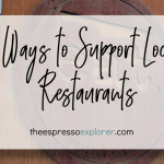 Support local restaurants using one or more of these 5 tips