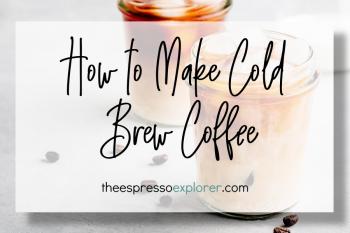 Cold brew coffee in a small mason jar