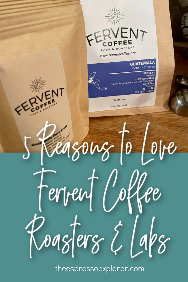 Coffee bags from Fervent Coffee Roasters & Labs